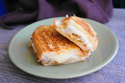 French Onion Grilled Cheese Sandwich  by navywifecook #French_Onion_Grilled_Cheese #Grilled_Cheese #navywifecook