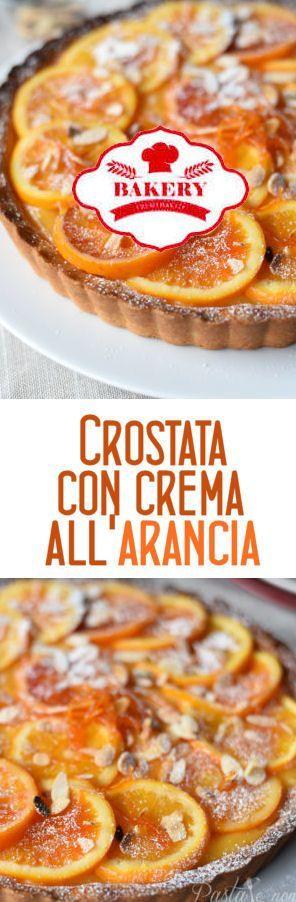Crostata con crema all'arancia