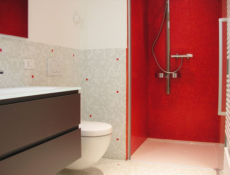 Red Bisazza bathroom