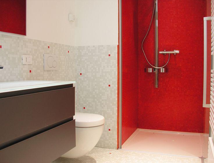 Red Bisazza bathroom