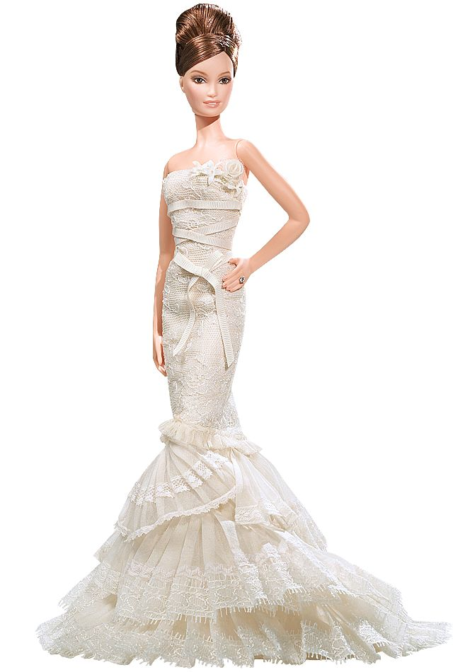 Vera Wang Bride: The Romanticist Barbie Doll- I love this dress.