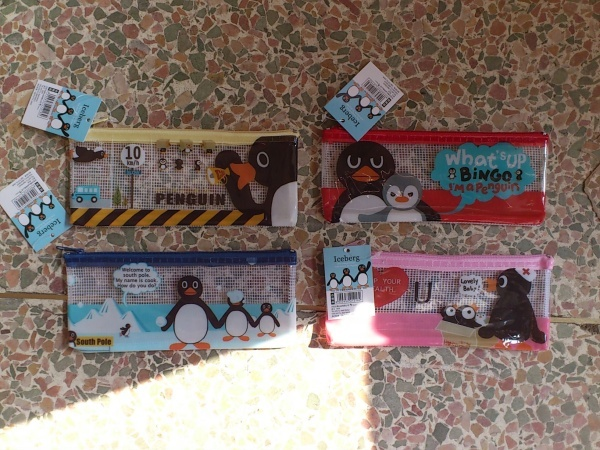 Looking for that pencil case to keep your stationery, this is the one for you, coupled with a cute Penguin Design.