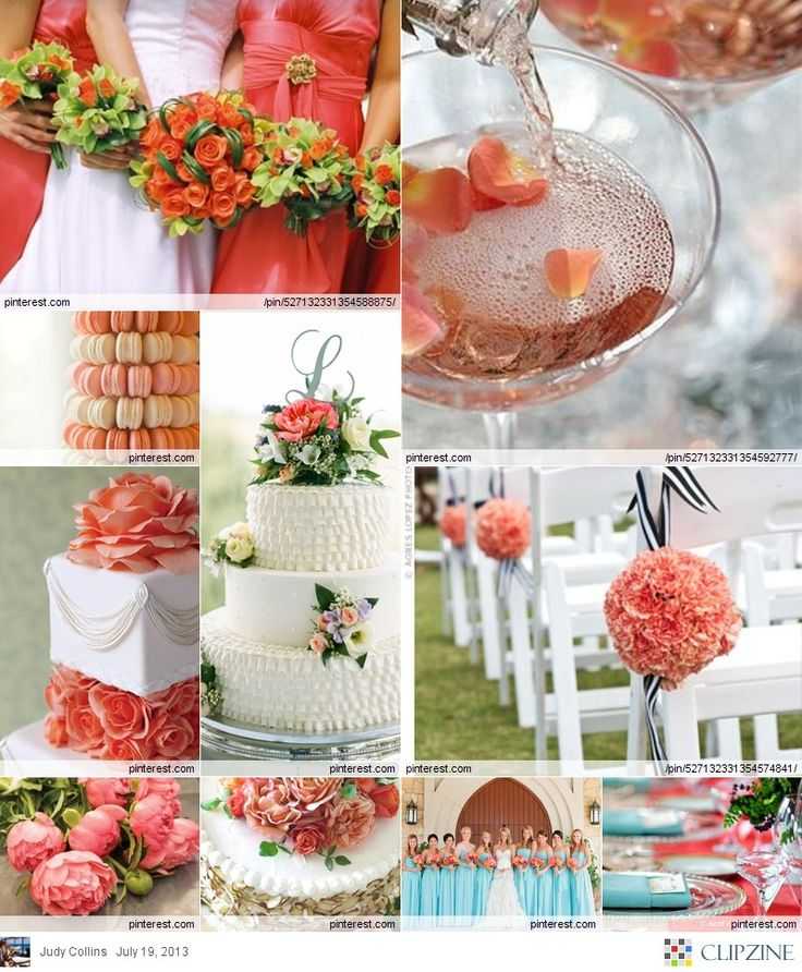17 Best Images About Malibu Blue And Coral Wedding On
