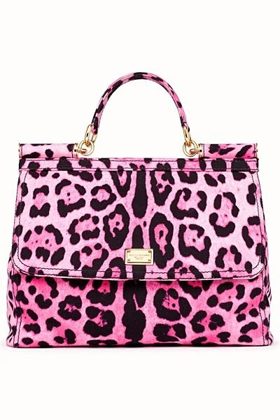 DOLCE GABBANA   Pink Leopard Bag  =