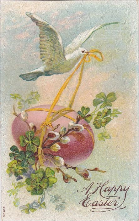 Vintage  Easter Greetings Postcard  Dove by sharonfostervintage, $4.50