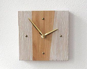 Small Wall Clock, Wooden Decorative Clocks, Industrial Clock, Modern Clock, Kitchen Clock Unique Clocks Rustic Clock Silent Clock Wall Decor
