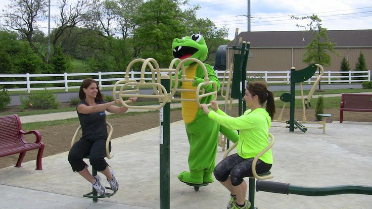Outdoor fitness stations are located in North Boundary Park and Graham Park in Cranberry Township.