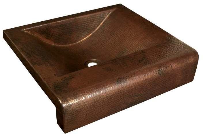 Native Trails Copper Bathroom Sinks Metal Rectangular Drop-In Bathroom Sink