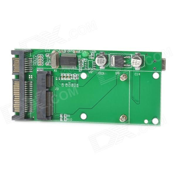 "Color: Green; Brand: N/A; Quantity: 1 Set; Material: PCB; Form Factor: Others,1.8""; Powered By: USB; Supports Max. Capacity: 600 GB; Slot: SATA; Slot Number: 1; Supports System: Win xp; Other Features: Note: mSATA is not the 1.8 micro SATA. It is not compatible with 1.8 mSATA (micro SATA)! For laptops with SATA 1.8"" SSD only!; Packing List: 1 x Adapter card; http://j.mp/1p12bfm"