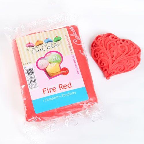Tűzpiros színű FunCakes fondant 250 g