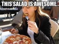 yeah a pizza salad..haha!: Laughing, Awesome, Funny Pictures, My Life, Pizza Salad Haha, Funny Stuff, Humor, Things, Crusts