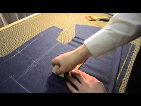 The Making of a Coat #3 - Striking the Pattern - YouTube