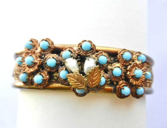 Authentic Hinged bangle/bracelet  Edwardian era  by RAKcreations
