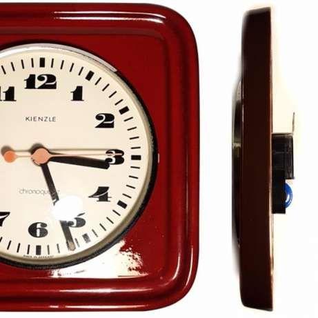 zegar ceramiczny, lata 70, prl, retro KIENZLE, loft,rockabilly, wisząc Płock - image 5