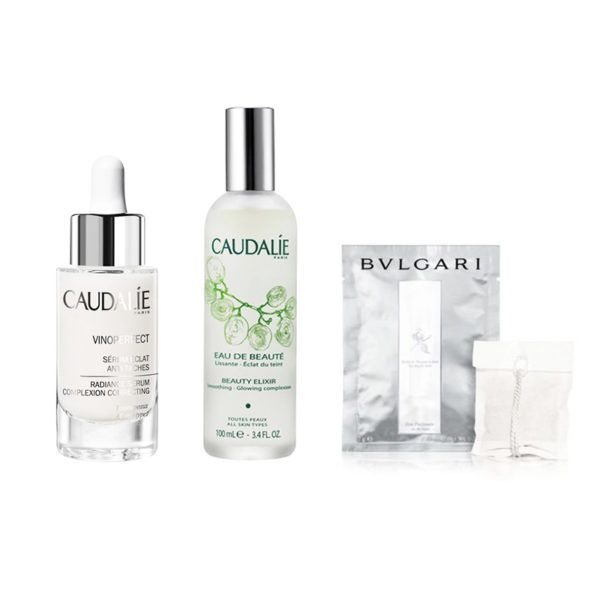 """New Beauty Discoveries - """"Everything Caudalie! I recently replaced my entire skincare regimen with theirline. The brand, which was born in a French vineyard, has the most amazing all-natural, plant-based anti-aging products. I love that they are eco-friendly, and everything comes in travel sizes."""" —Devin""""On a recent trip to Italy I discovered Bvlgari Blanc bath tea bags—they smell amazing and make your skin feel so good after a relaxing soak."""" —Natasha"""