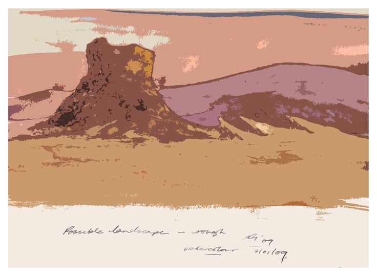 Digital Painting of a landscape | 2009