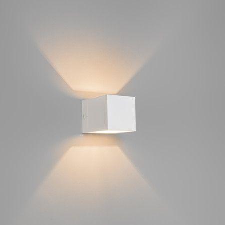 Wandlamp Transfer wit - Wandlampen - Binnenverlichting - Lampenlicht.nl 40 euro