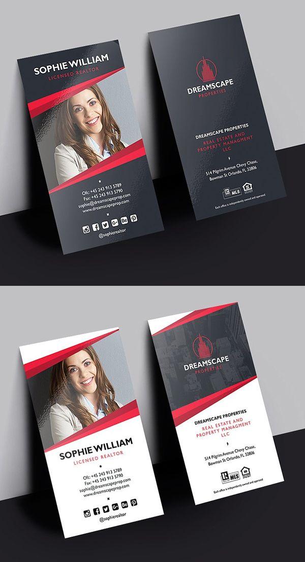 Creative Real Estate Business Card Real Estate Business Cards Business Card Template Design Business Card Folder