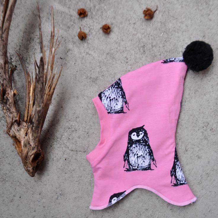 Organic+penguin+Balaclava+with+pompon