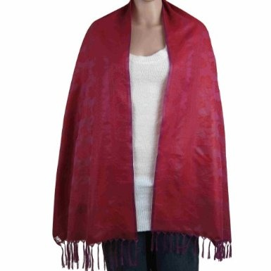 Clothes Gifts For Her Cloth In India Designer Magenta Scarf Viscose Fiber 50 cm X 180 cm: Amazon.co.uk: Shoes & Accessories