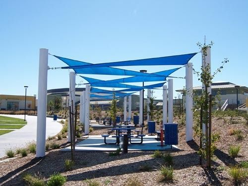 Shade Structures ~ Screen the Sun, Keep the Fun!  Sail Shades -  Pinterest