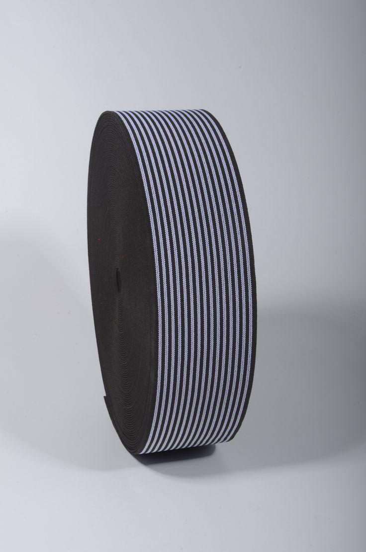40 mm Shoe Elastics / 25 m / Striped