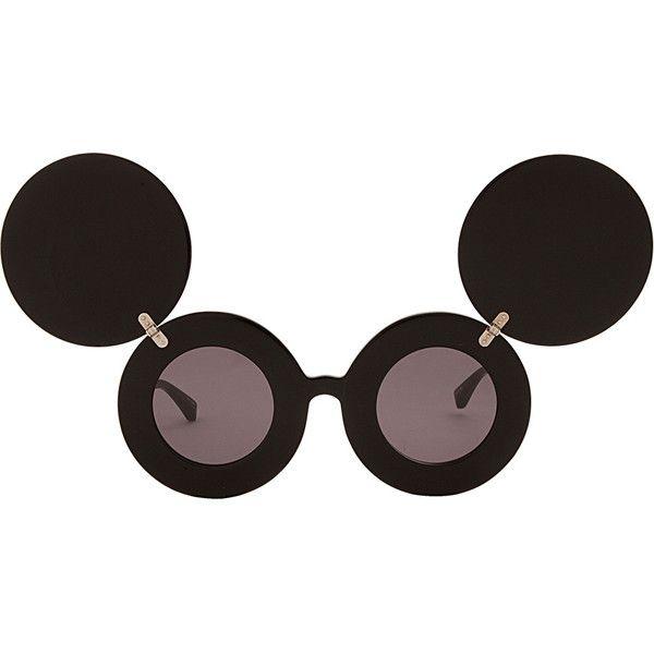 JEREMY SCOTT Mickey Mouse Sunglasses (£295) found on Polyvore