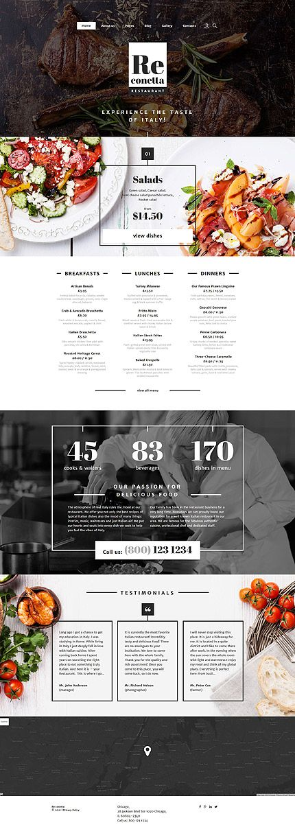 $75 - ReConetta Joomla Template This #restaurant template will fit for any kind…