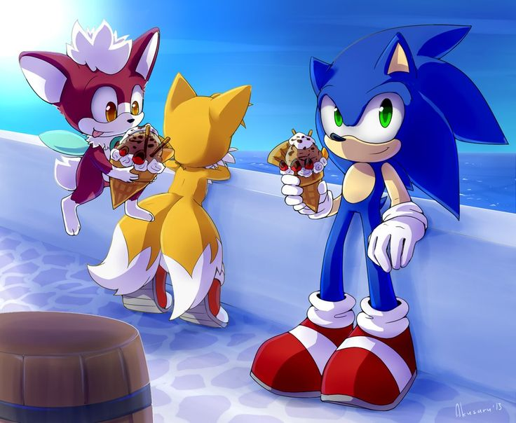 """Sonic the Hedgehog, Miles """"Tails"""" Prower and Chip - Sonic Unleashed Artwork"""