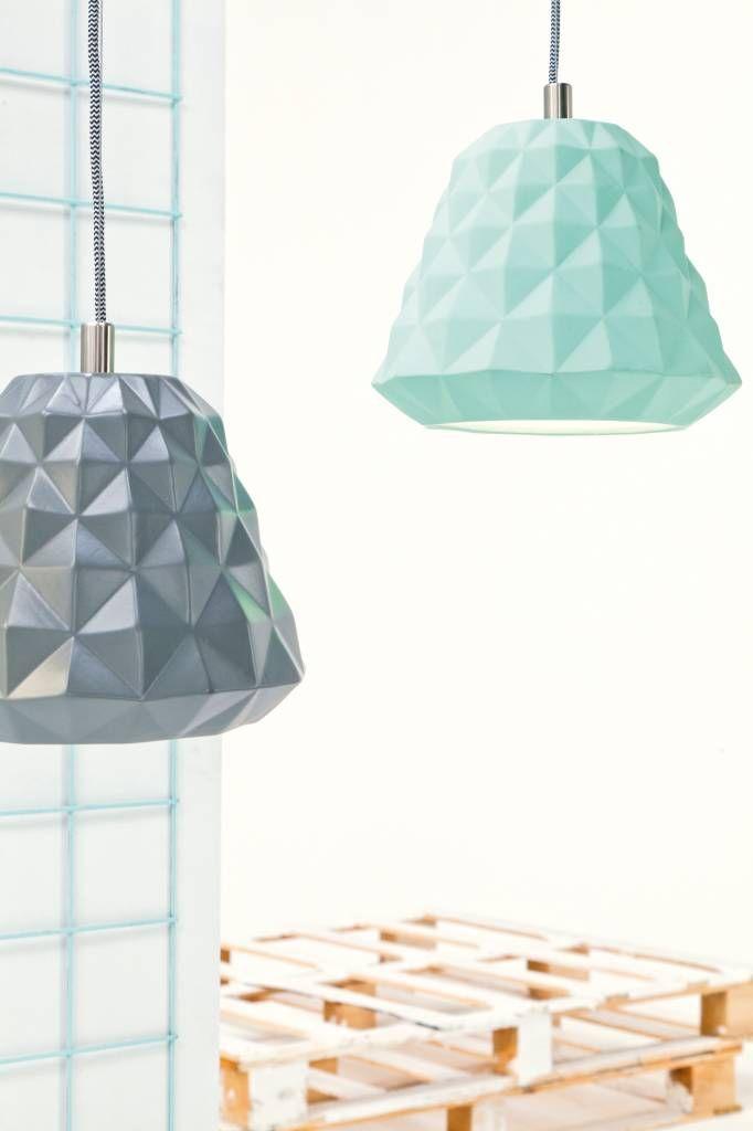 Leitmotiv Hanglamp 'Cast Mini' keramiek mint groen ø20xh166cm - wonenmetlef.nl