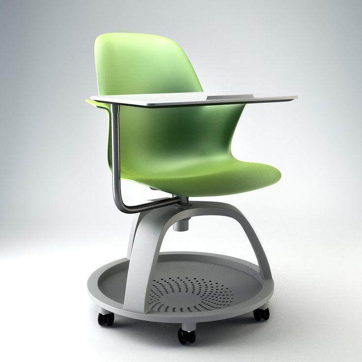 Node Chair Steelcase 3D Max   3D Model · Arbeitsbereich Design3ds  MaxFotografie RequisitenFlexibilitätBüromöbelArbeitsbereicheSchreibtischeNode  ...