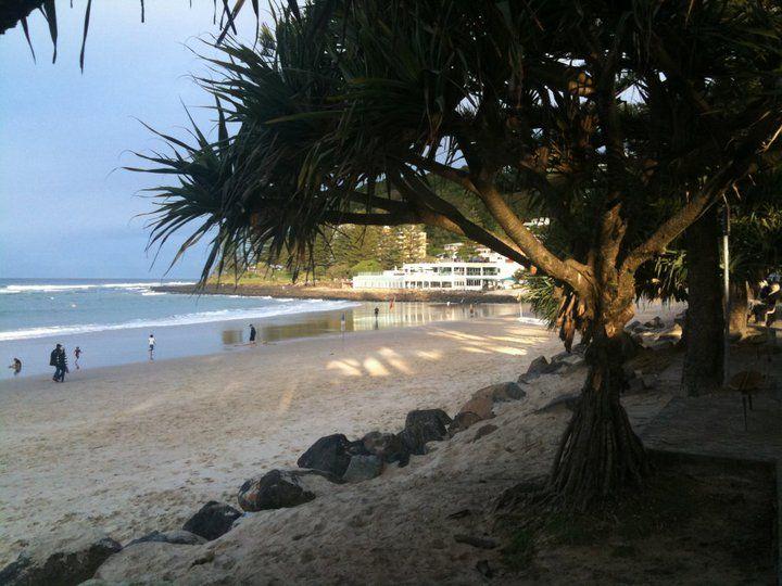 Beautiful Burleigh Beach, Gold Coast, Australia.