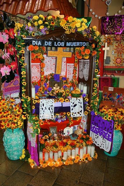 Day of the Dead (Dia de los Muertos) altar by nelights, via Flickr
