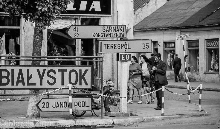 Na rynku w Bialej Podlaskiej, fot. Marek Zürn (lata 60. XX w.)
