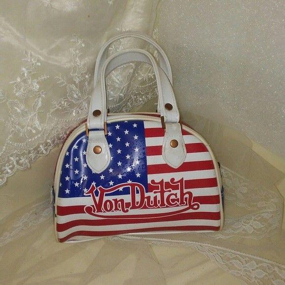 Von Dutch Womens American Flag Mini Purse #VonDutch #BowlingBagMini