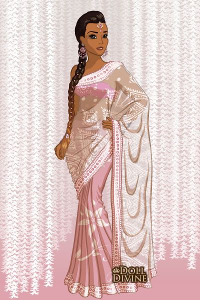 Cute indian rose Doll Divine Dress Up Games