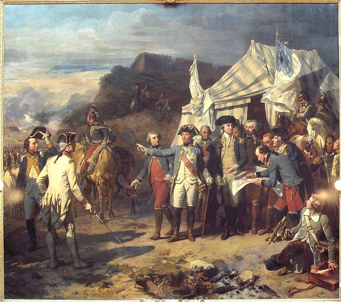 Siege of Yorktown . . . .  my GGF Arrington Wickliffe was there. Arrington had two brothers, Benjamin and Moses, that also fought under Washington & Lafayette. Neither on of my great uncles survived the ARW.