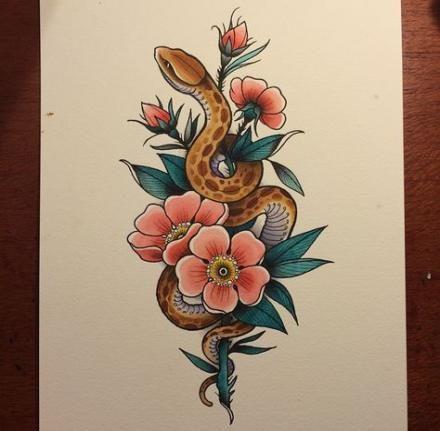 Tattoo Snake Feminine 45 Ideas