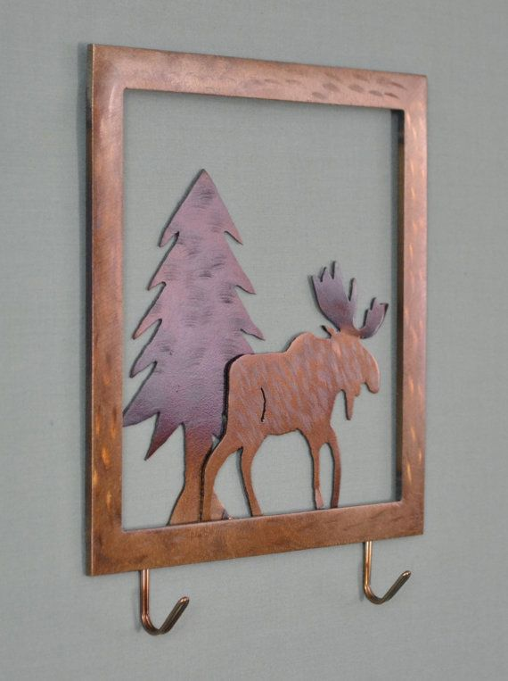 Small Metal Wall Art 81 best moose metal wall art images on pinterest | metal walls