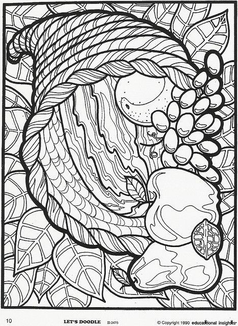 advanced coloring pages thanksgiving - photo#14