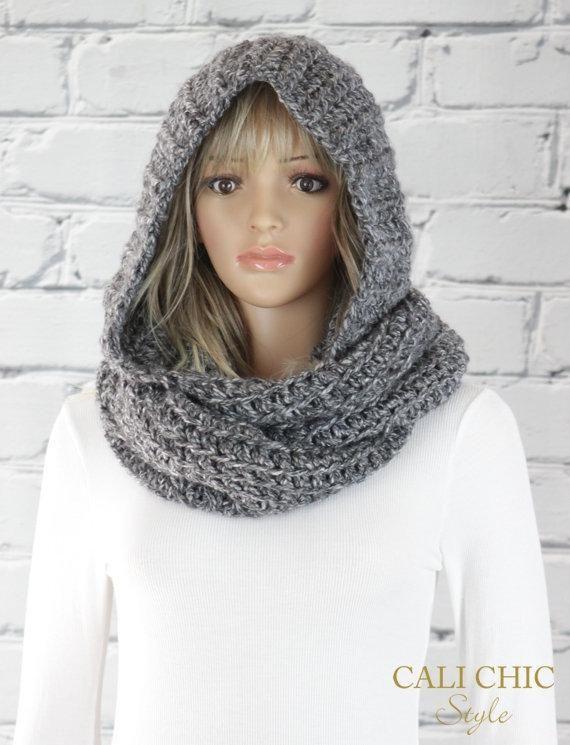 bce1f9b0e6e Alexia Hooded Scarf Pattern #800, Crochet Hooded Infinity Scarf ...