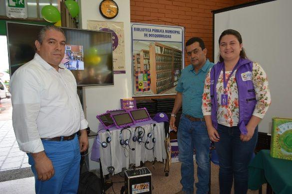 Biblioteca de Dosquebradas recibió proyectos innovadores y elementos tecnológicos de MinCultura