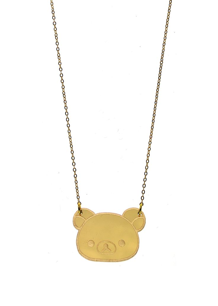 """Rilakkuma get's the boho treatment! Notice the zipper pull charm at the back. Now you're just like Rilakkuma! - Officially Licensed San-X Necklace - Rilakkuma charm is approximately 1.5"""" wide - Mirror"""