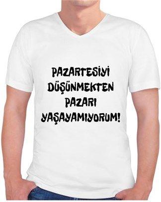 Pazartesi Sendromu Kendin Tasarla - Erkek V Yaka Tişört