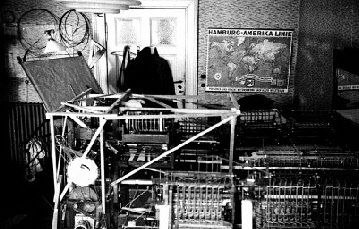 Zuse Z1 in living room, Germany, 1938