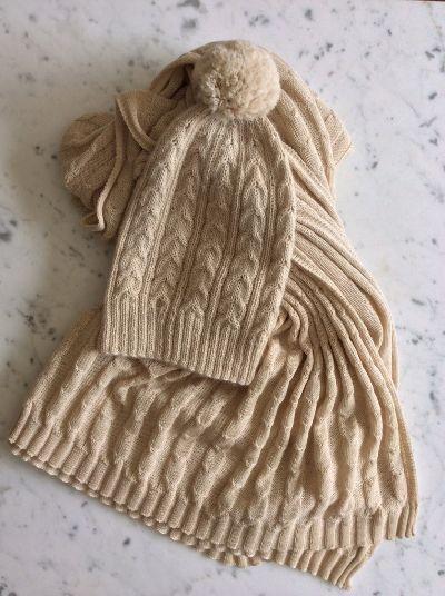 Creme Pompom Toque | Fair Trade - Le fil rouge Textiles