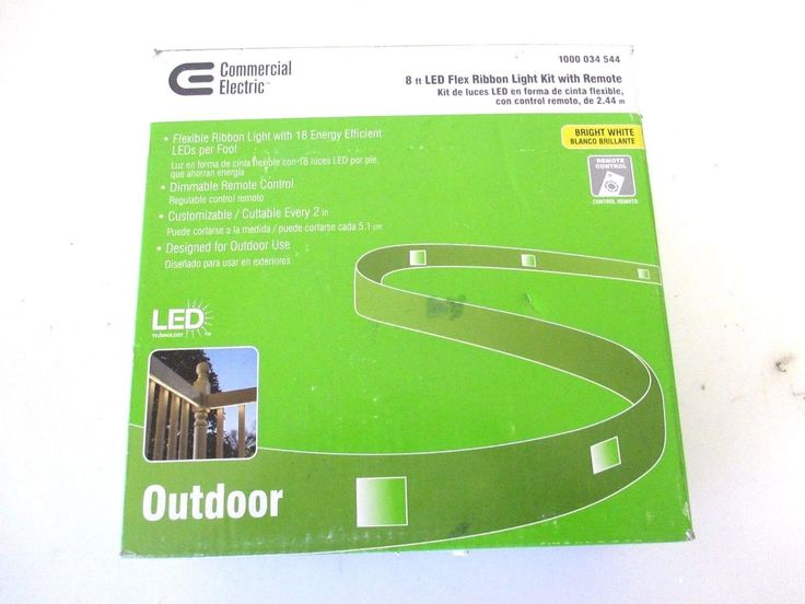 Commercial Electric 8 ft. LED Flexible Rated Clear Under Cabinet Tape Light Kit