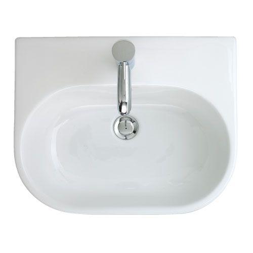 Trio 500 Semi Inset Basin - 1 Tap Hole | bathstore