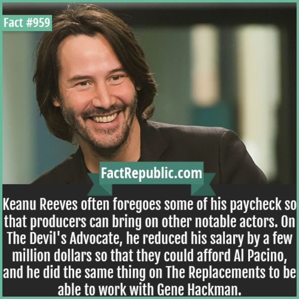Don't hear enough of how awesome and kind Keanu Reeves is.