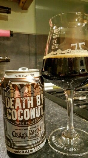 Oskar Blues Death By Coconut Irish Porter.